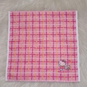 Vintage Sanrio Hello Kitty Plaid Wash Cloth